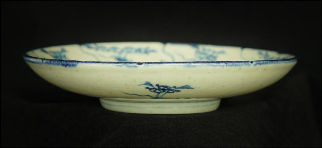 Chinese blue and white porcelain plate of Qing Dynasty - 9