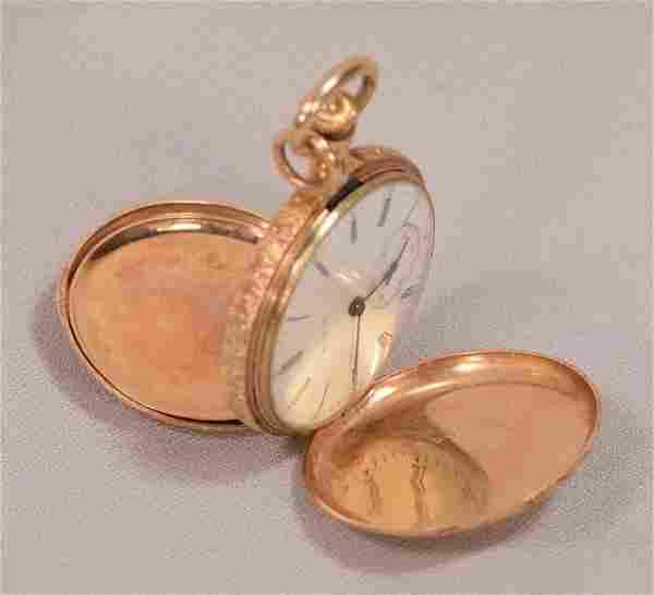 Antique Art Nouveau Elgin Ladies 14K Gold Hunting Case