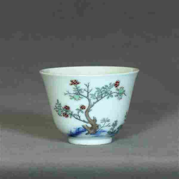 A Chinese Famille Rose Porcelain Cup Qing Dynasty