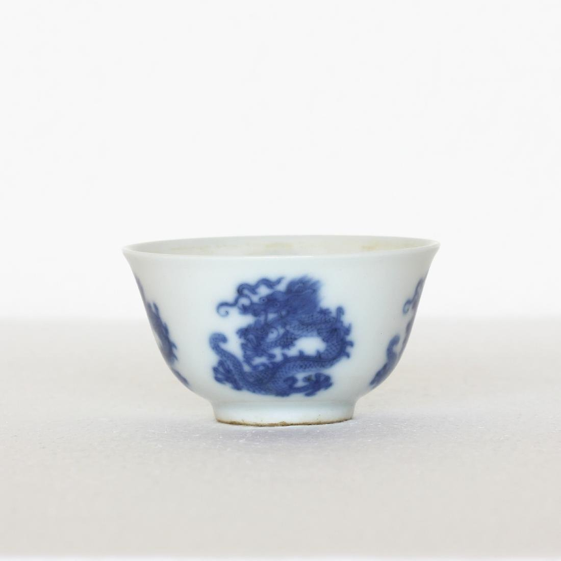 A Chinese Blue And White Porcelain Cup Qing Dynasty