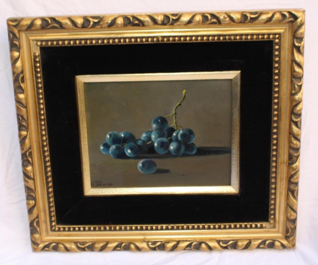 MAGNIFICENT STILL LIFE FRUIT OIL ON CANVAS PAINTING