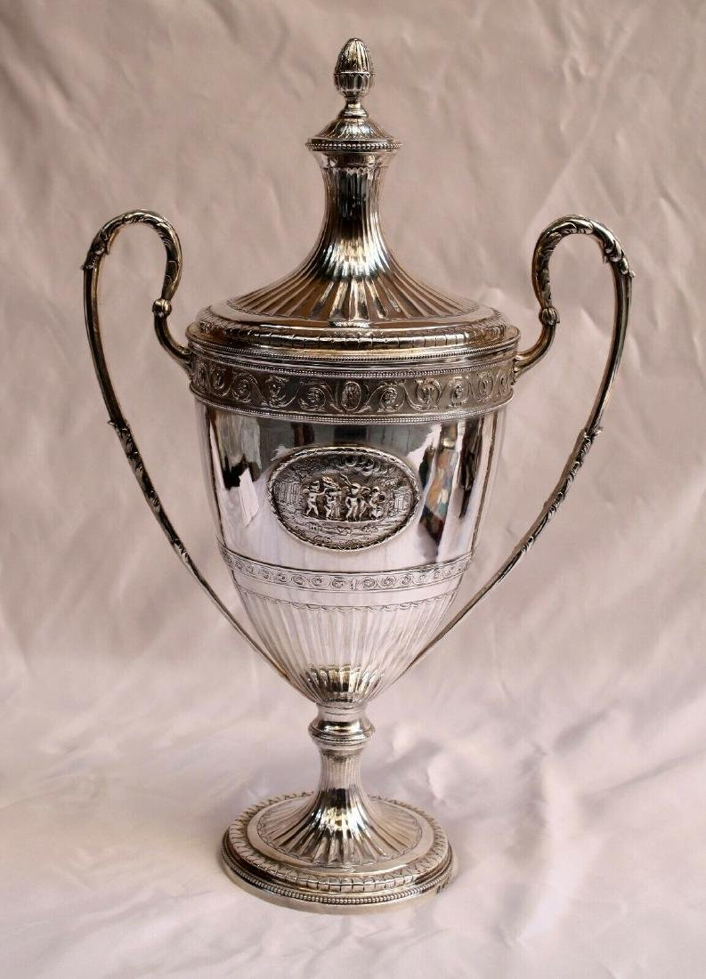 MAGNIFICENT 1787 GEORGIAN STERLING SILVER CUP & COVER