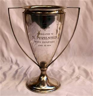 MAGNIFICENT 1924 STERLING SILVER TROPHY