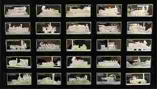 MAGNIFICENT 50 P COLLECTION OF STERLING SILVER TRAINS