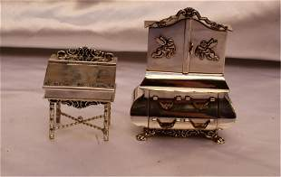 MAGNIFICENT 1900 DUTCH TWO PIECE STERLING SILVER