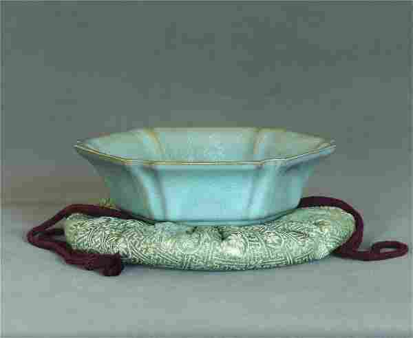 A Chinese Ru-Kiln Brush Washer Southern Song Dynasty.