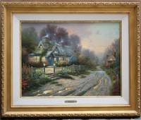 MAGNIFICENT O/C LITHOGRAPH BY THOMAS KINKADE TITLED