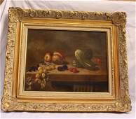 MAGNIFICENT OIL ON CANVAS STILL LIFE PAINTING SIGNED