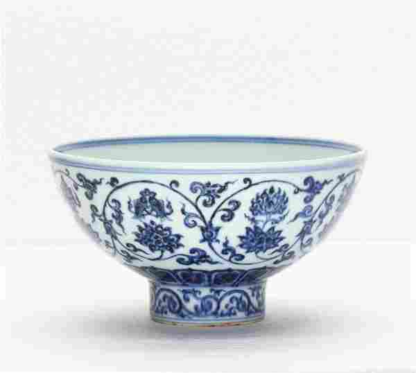 A Chinese Blue And White Porcelain Bowl Ming Dynasty