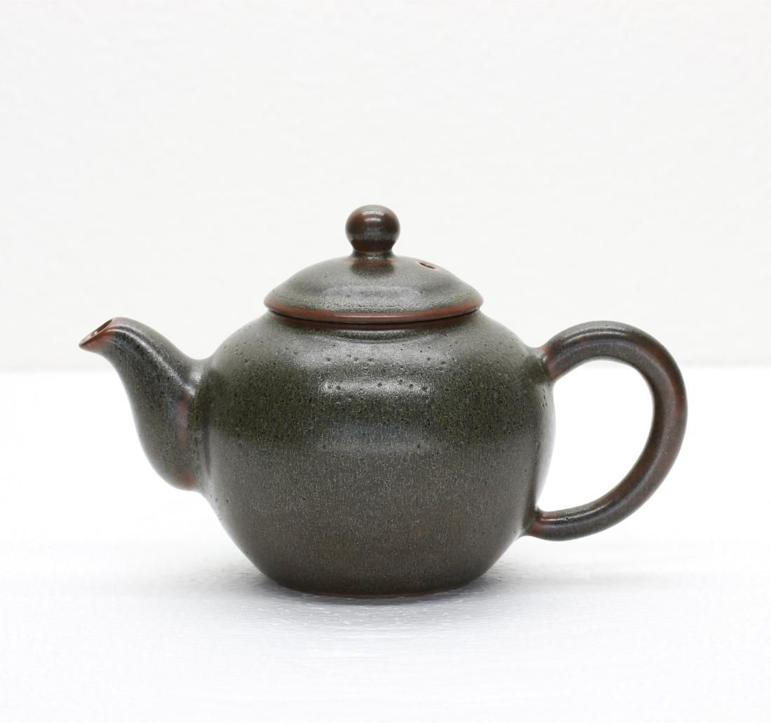 A Chinese Tea-Glaze Porcelain Tea Pot Qing Dynasty