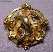 Antique 18k Gold Serpent Brooch
