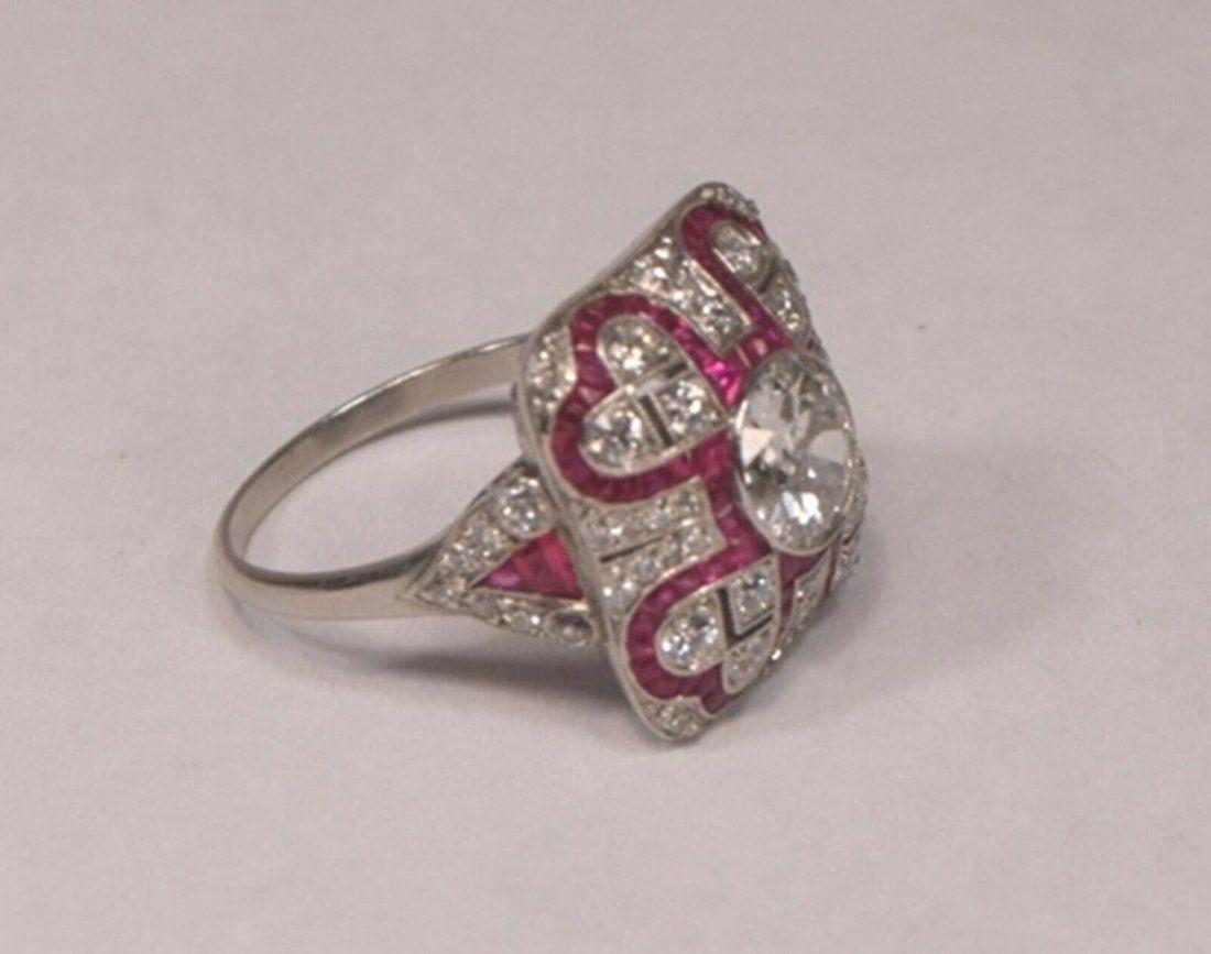 Unique 1.09 Carat Center Diamond 63 Diamonds & 81