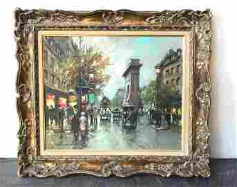 "Antoine Blanchard French 18"" By 22"" Oil On Canvas"