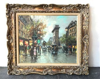 """Antoine Blanchard French 18"""" By 22"""" Oil On Canvas"""