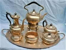 Tiffany  Co Sterling Silver 7 Pcs Tea Set Circa 1865