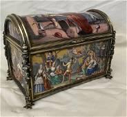 IMPORTANT VIENNESE SILVER & ENAMEL HISTORISMUS BOX