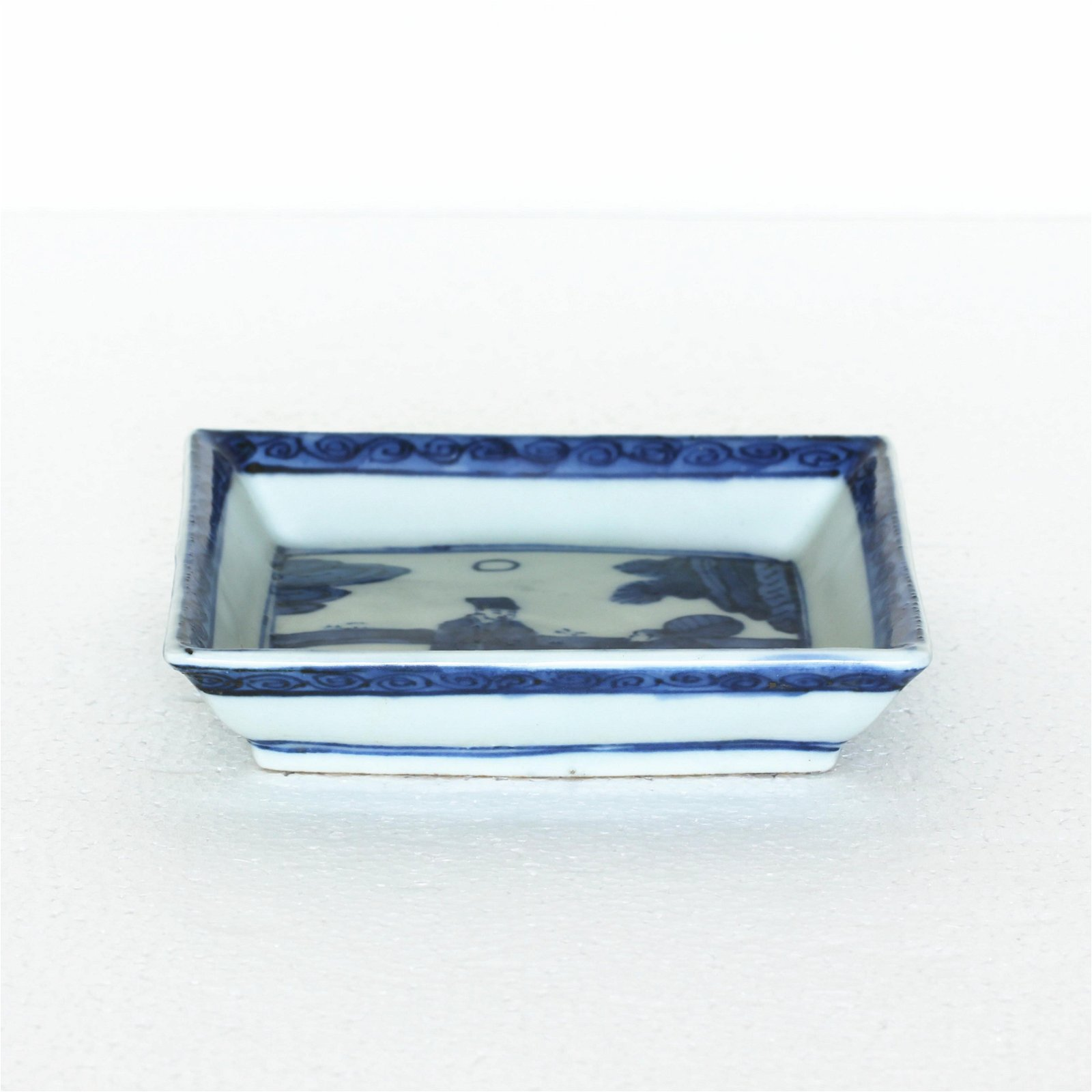 A Chinese Blue And White Porcelain Square Plate Ming