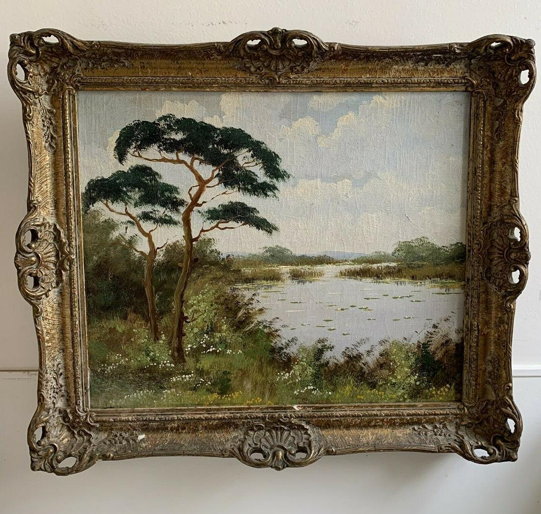 European 19th Century Signed Oil On Canvas Fine