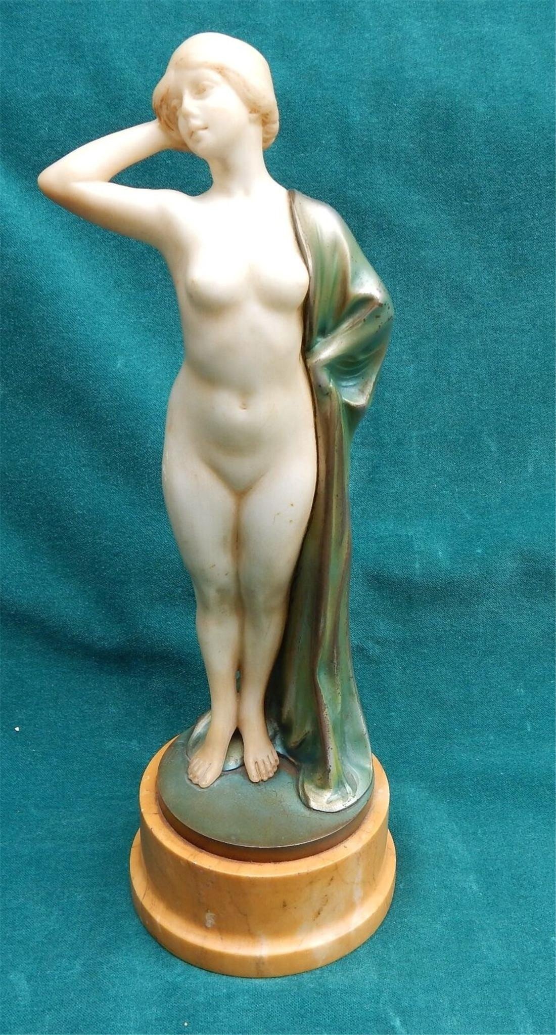 Emil Rizec Austrian b.1901 Art Deco Bronze & Marble