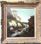 GUSTAVE COURBET ORIGINAL EXPRESSIONIST OIL CANVAS