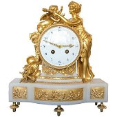 French 19th Century Antique Mantel Clock of Psyche and