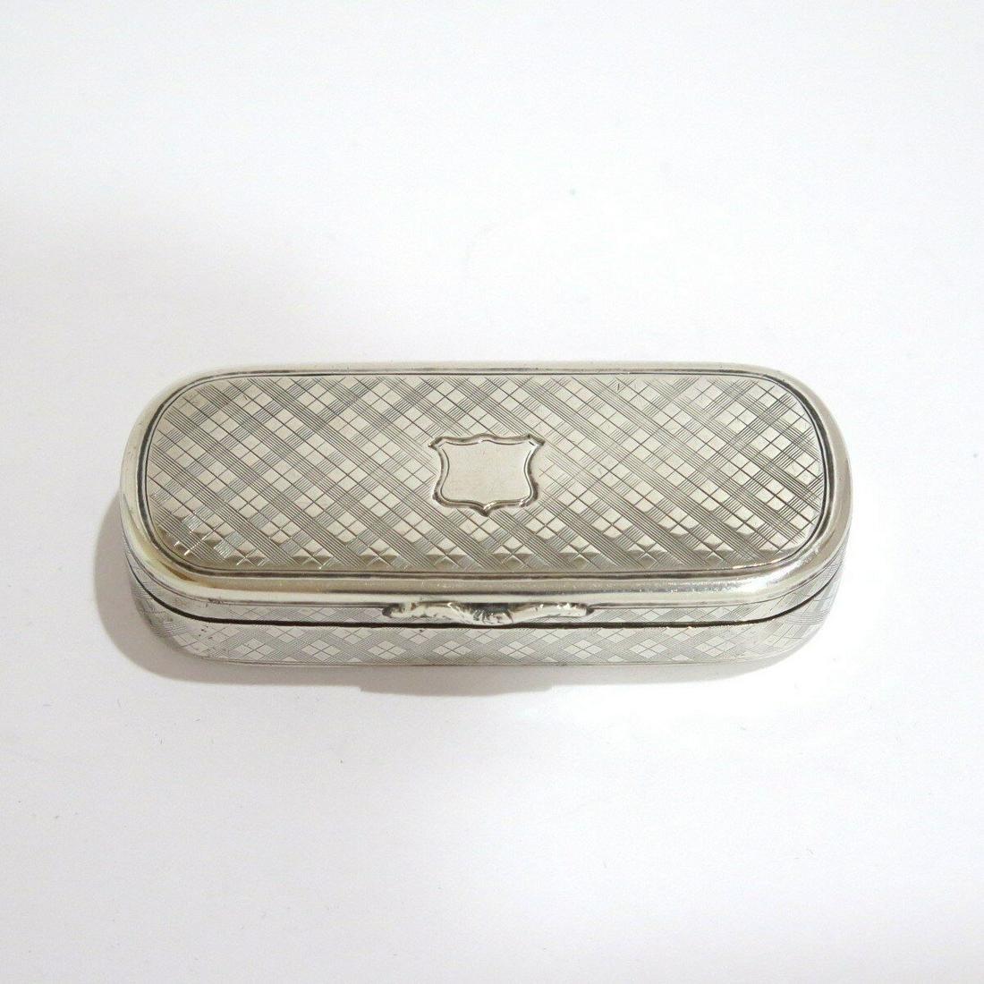 Silver Gilded Interior Antique  Snuff Box.