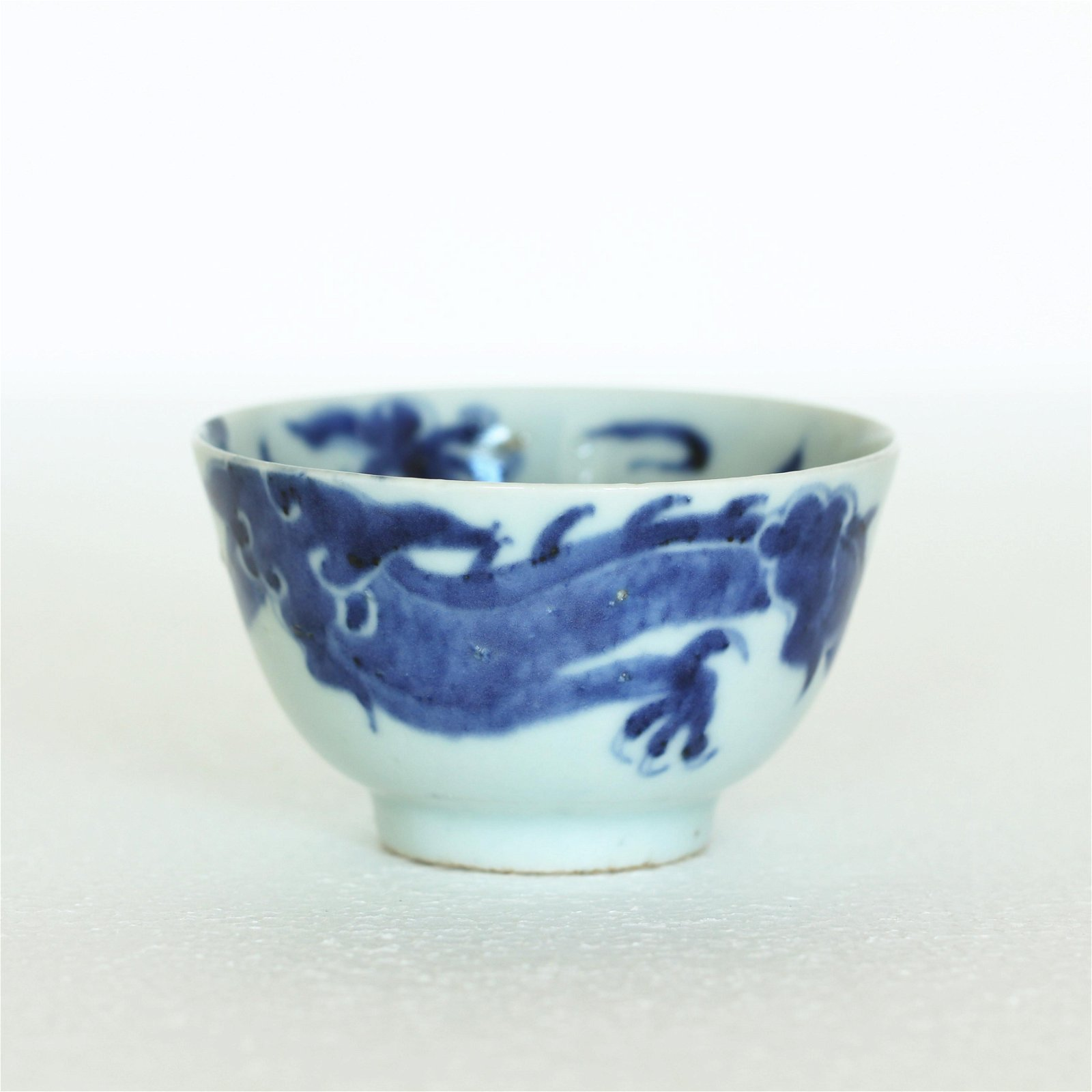 A Chinese Blue And White Porcelain Cup,
