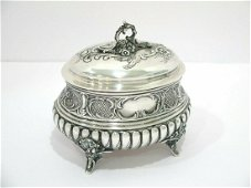 European Silver Gilt Interior Antique Box.