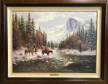 """Jack Terry """"Morning on the Merced"""" Hand Painted on"""