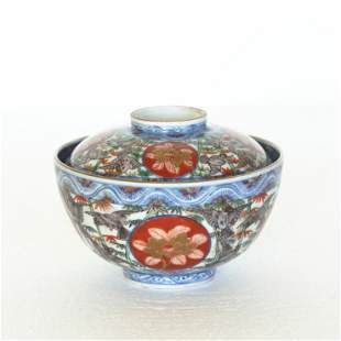 A Chinese blue and white, three colors gilt porcelain