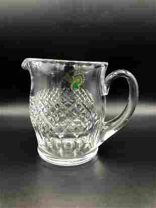 """Waterford crystal Colleen Jug Pitcher, 6"""" Tall, 7"""""""