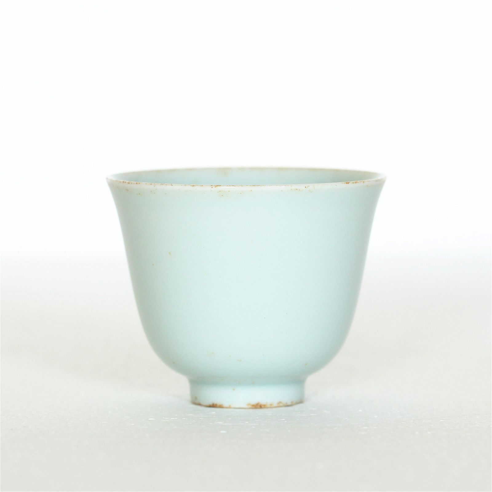 A Chinese Light blue glaze porcelain cup, Qing Dynasty