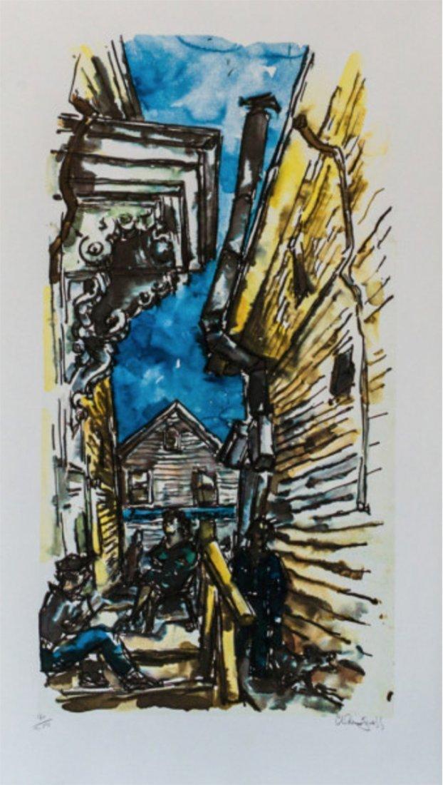 Chaim Gross - New England Street Scene