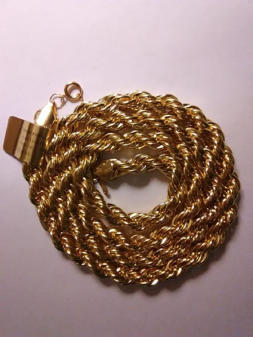 1/5 14K Gold Filled Rope Necklace, 191 Grams