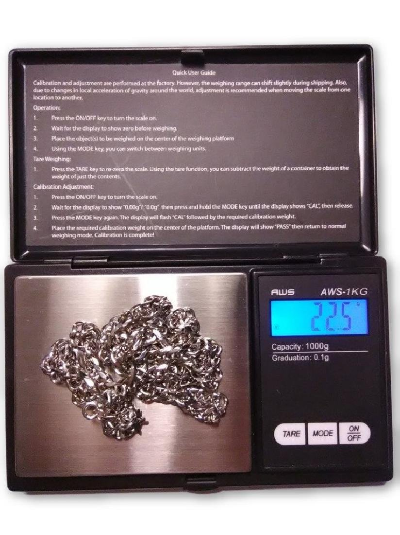 1/20 14K White Gold Filled Necklace, 22.5 Grams - 2