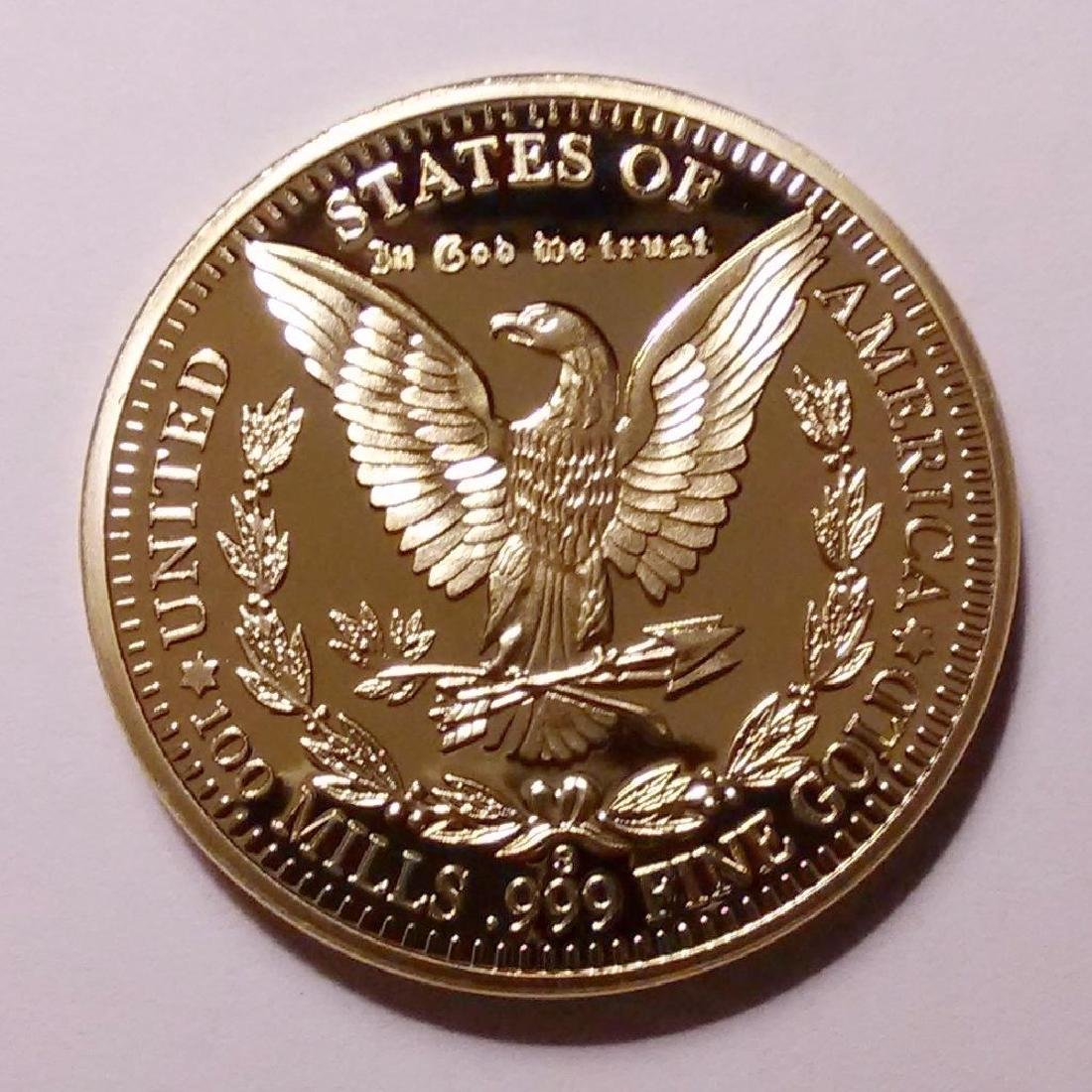 1896 24K .999 Fine Gold Clad Morgan Coin