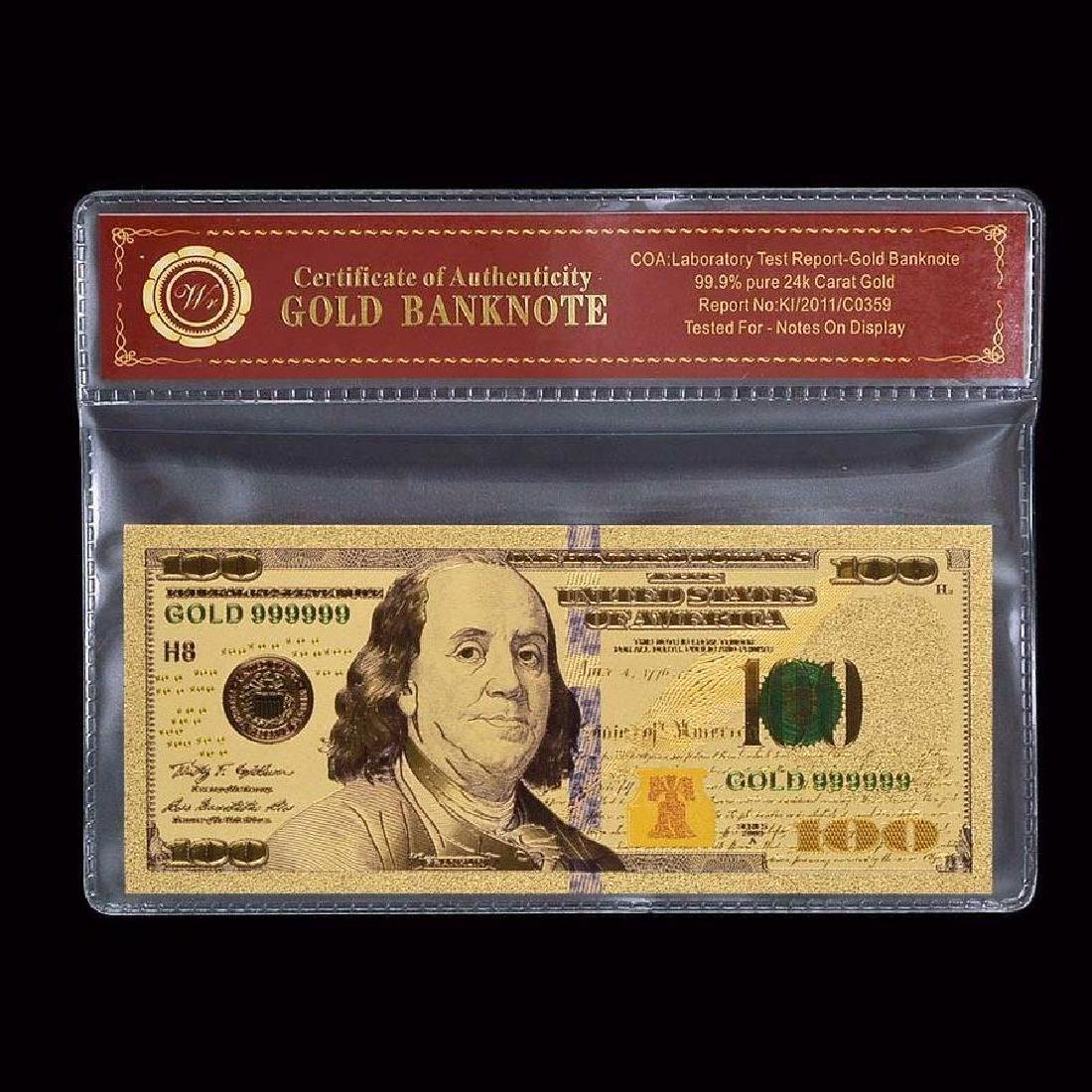 USA $100 24K Gold Clad Banknote