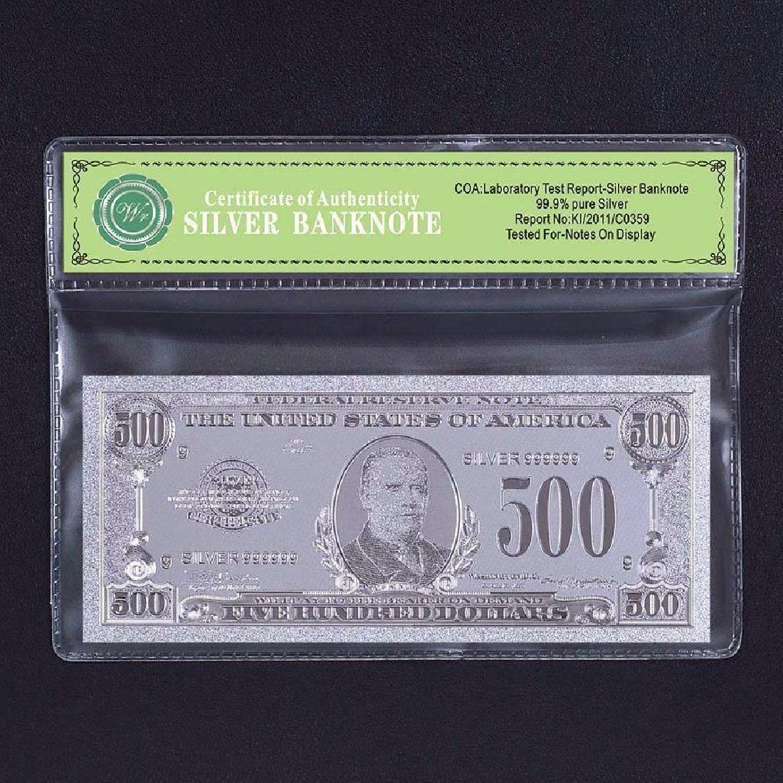 USA $500 24K Silver Clad Banknote