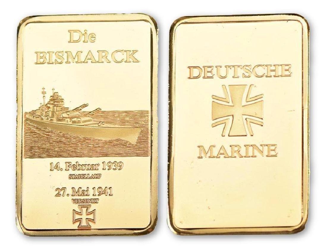 Germany 35g 999 24K Gold Clad Bullion Bar
