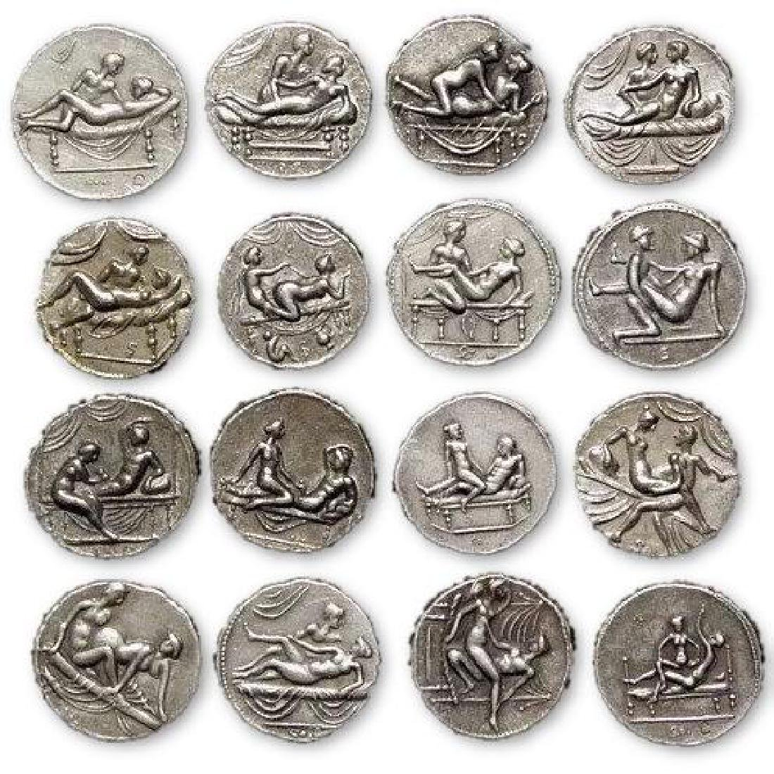 Erotic Positions Token Coins of Ancient Rome
