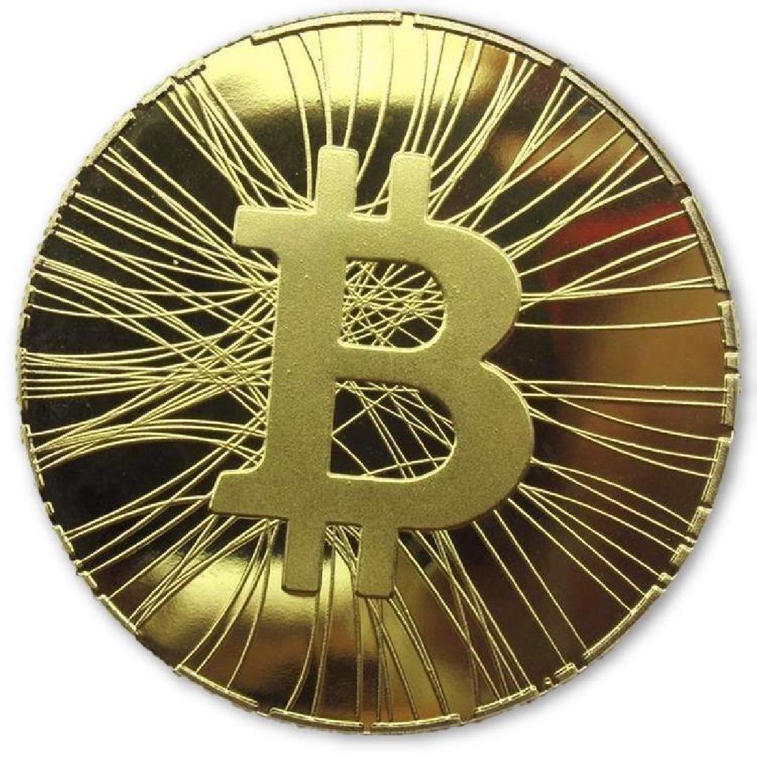 Bitcoin Mining Gold Clad Collectible Coin