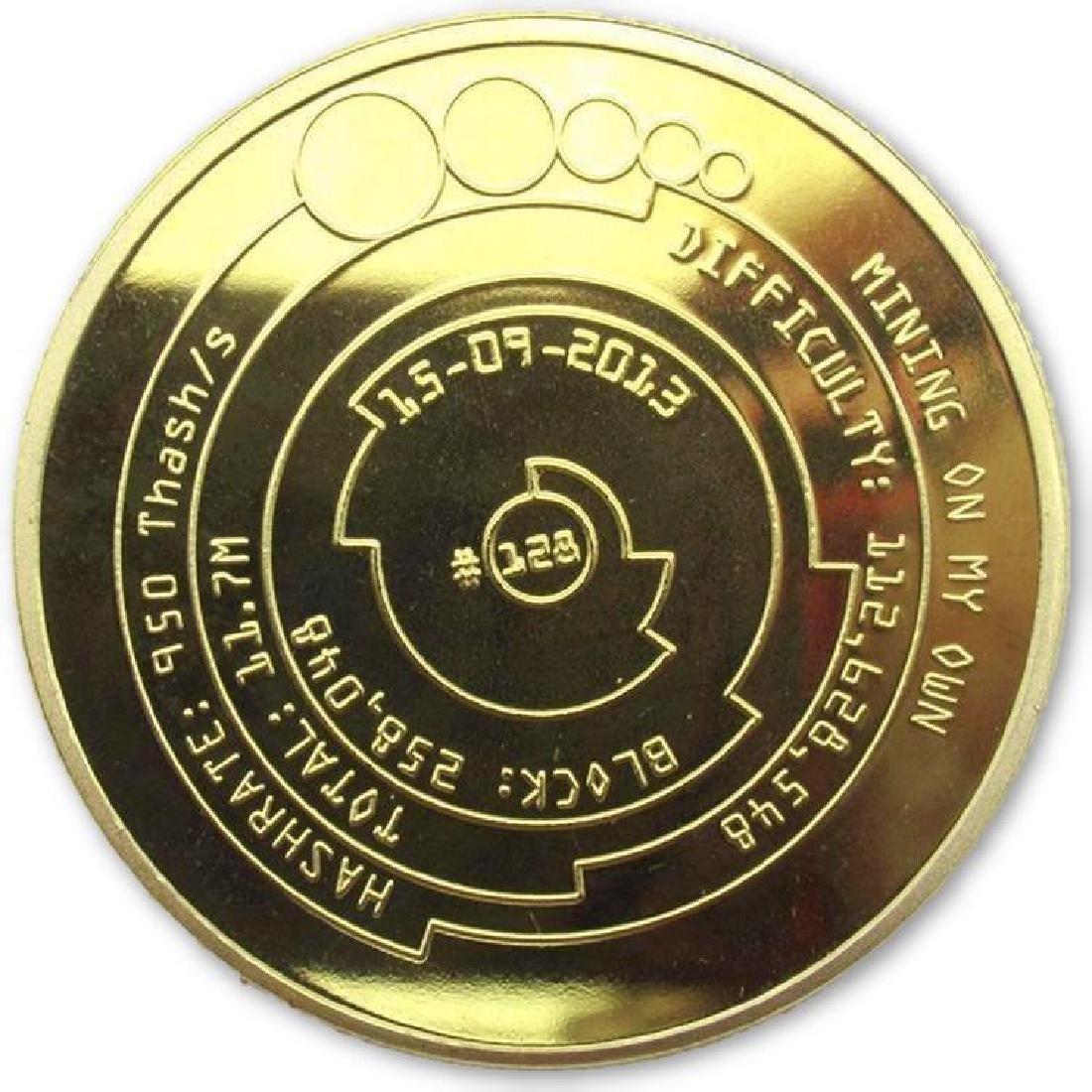 Bitcoin Mining Gold Clad Collectible Coin - 2