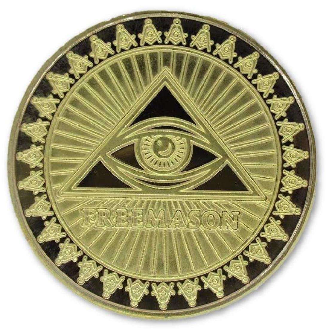 Freemason 24K Gold Clad Collectible Token Coin