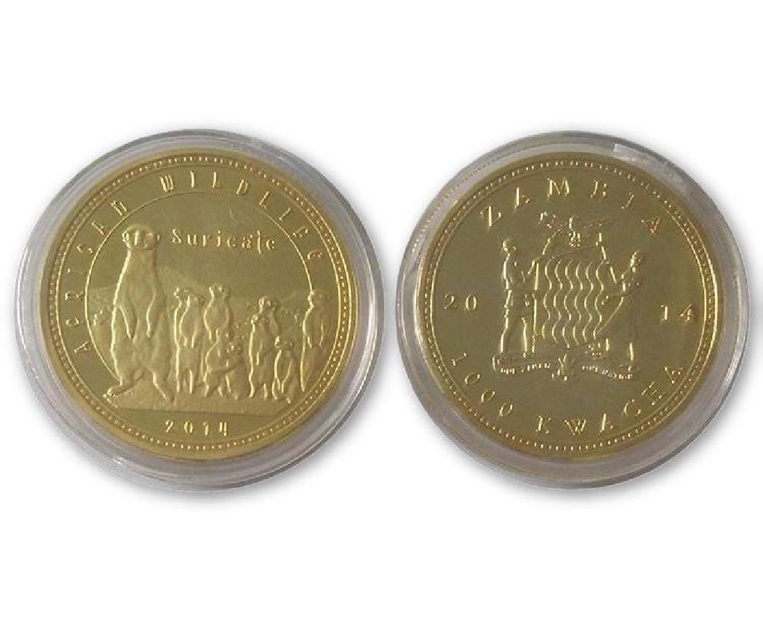 2014 Africa Wildlife Suricate Gold Clad Coin