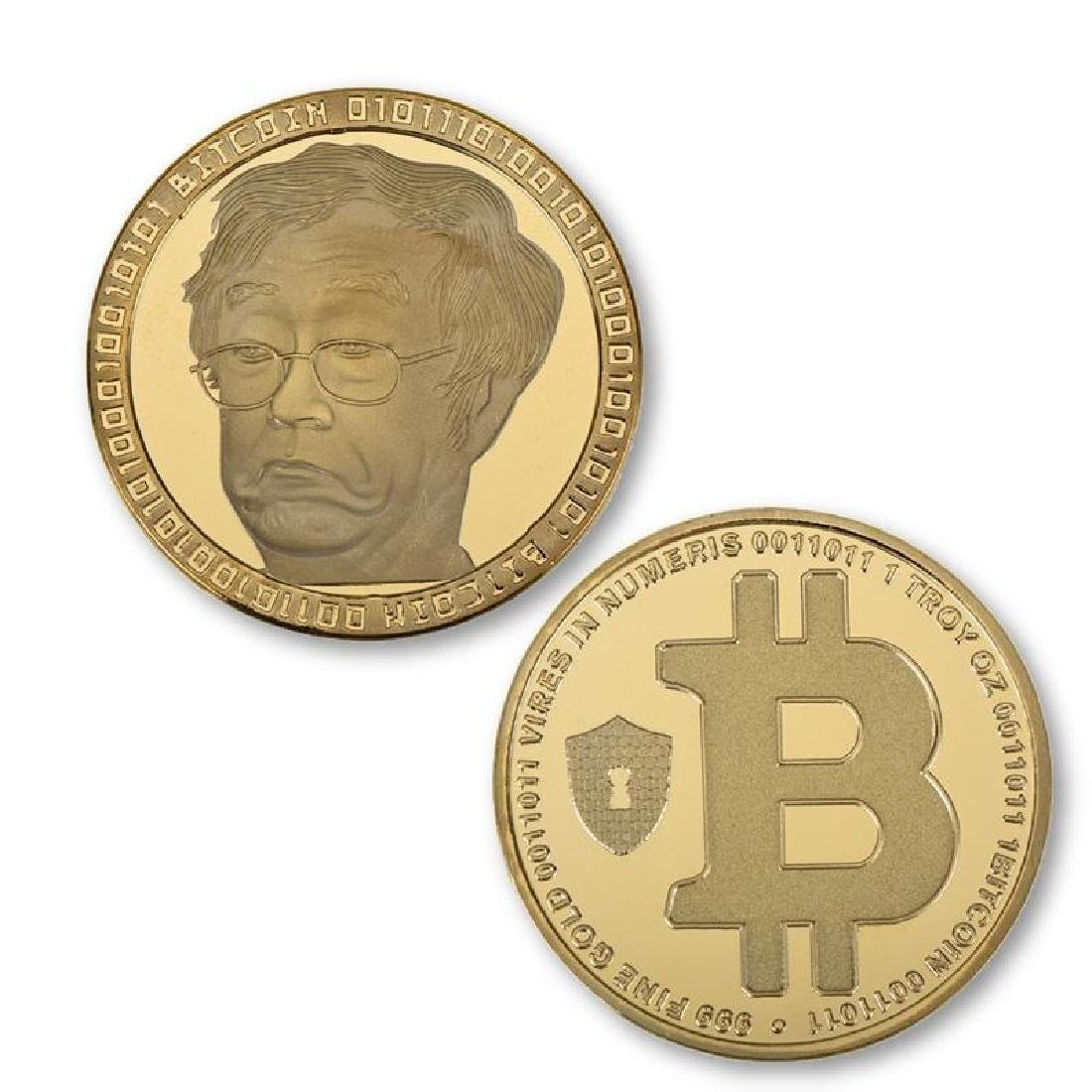 4 Bitcoin Silver and Gold Clad Collectible Coins - 3