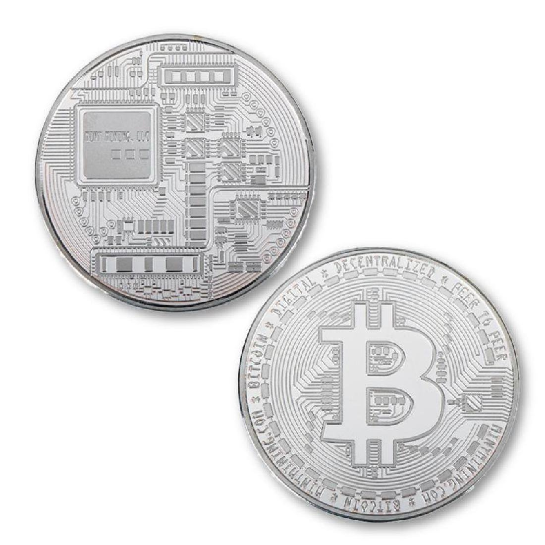 4 Bitcoin Silver and Gold Clad Collectible Coins - 4