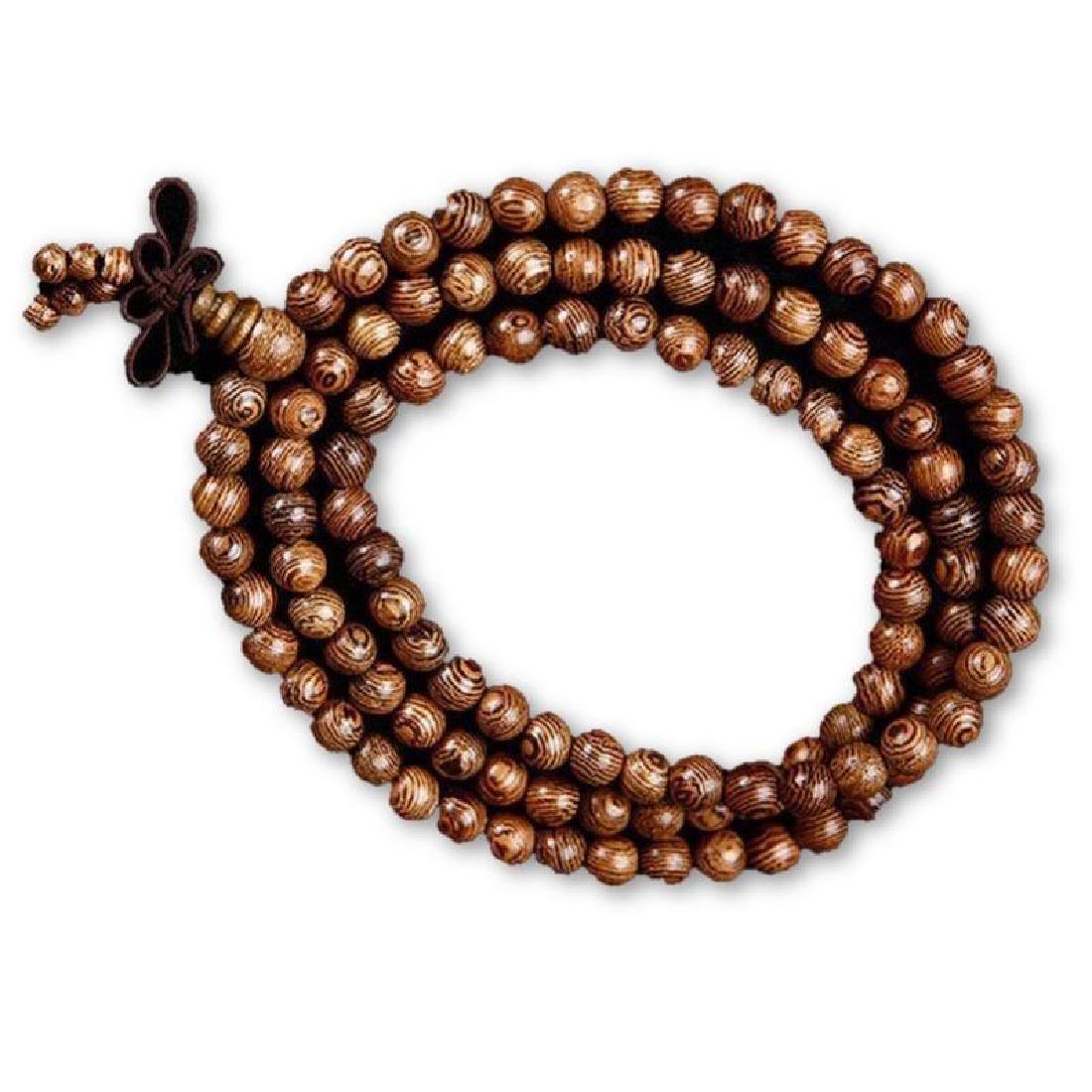 China Tibet Wooden Beads Prayer Mala Bracelet