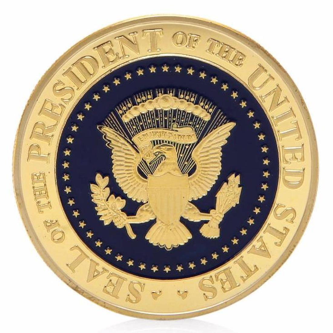 Donald Trump 45th President Gold Clad Coin - 2
