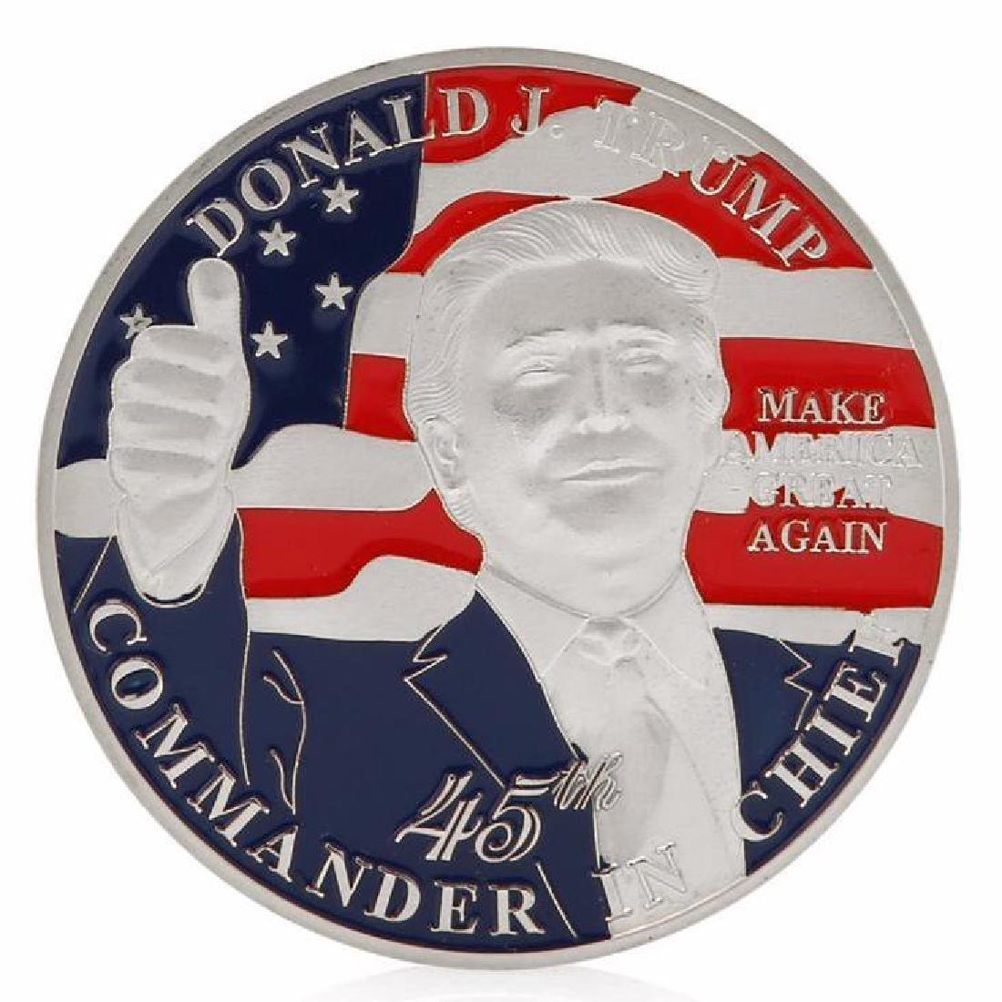 Donald Trump 45th President Silver Clad Coin