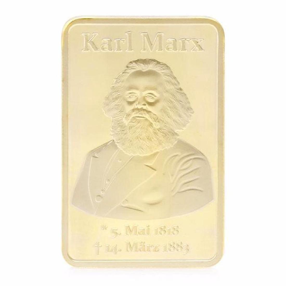 Karl Marx 999/1000 Gold Clad Bullion Bar